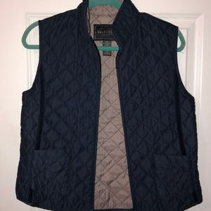 Blue nylon shell vest